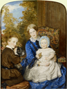 ca. 1854-1855 Miniature of the duchesse with the prince de Condé and with the duc de Guise on her lap, by Sir William Ross (location ?) From godsandfoolishgrandeur.blogspot.com/.png