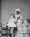 ca. 1858 Empress Eugénie and son by André-Adolphe-Eugène Disdéri