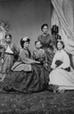 ca. 1862 (estimate based on age of Valdemar b. 1858) Queen Alexandra, Louise, Queen of Denmark, Maria Feodorovna, Empress of Russia, Thyra, Crown Princess of Hanover, Prince Waldemar of Denmark