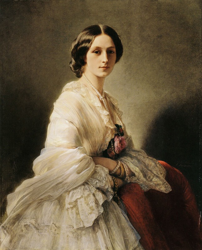 ca. 1863 Elena Ivanovna, Countess Orlova-Denisova, then Countess Shouvalova (1830-1922), née Chertkova by Franz Xaver Winterhalter (Metropolitan Museum of Art - New York City, New York, USA) From pubhist.com:w16234 X 2