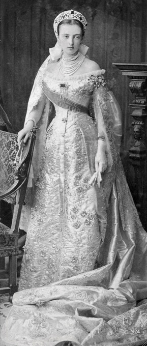 ca. 1878 Grand Princess Anastasia Mikhailovna of Russia, later Duchess Anastasia of Mecklenburg-Schwerin