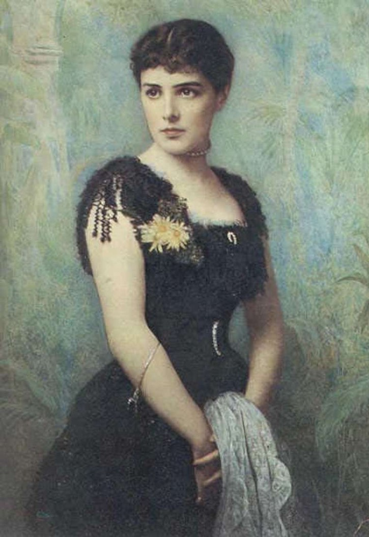 ca. 1880 Jennie Churchill by ? (location ?) From tumblr
