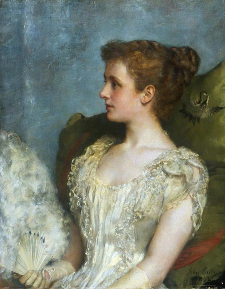 ca. 1892 Lady Darling by John Collier (Southampton City Art Gallery - Southampton UK)