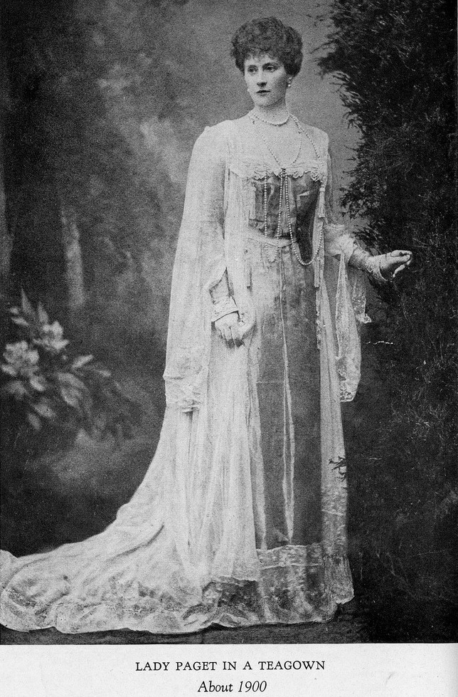 ca. 1900 Lady Paget in a Worth tea gown Sacheverelle's photostream on flickr detint