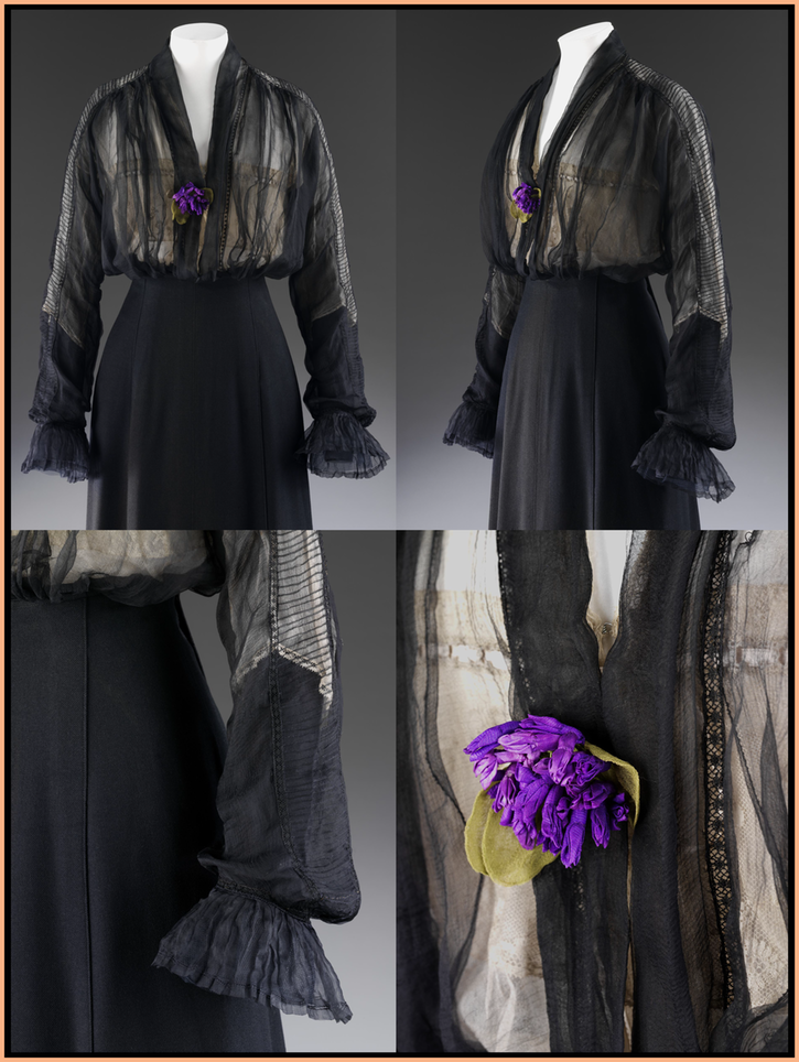 ca. 1912 Blouse by Lucile (Victoria and Albert Museum - London, UK) From museum's Web site original images © Victoria & Albert Museum