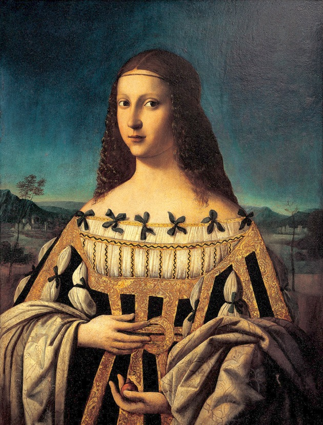 ca. 1500 Beatrice d'Este by Bartolomeo Veneto (Snite Museum of Art, University of Notre Dame - South Bend Indiana USA)