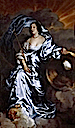 ca. 1638 Rachel de Ruvigny, Countess of Southampton as Fortune by Sir Anthonis van Dyck (Fitzwilliam Museum - University of Cambridge, Cambridge UK)