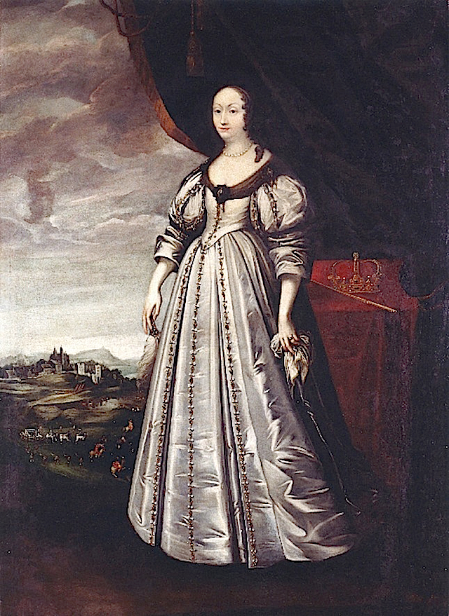 ca. 1650 Queen Marie Louise Gonzaga de Nevers, Queen of Poland by Peeter Danckers de Rij (Muzeum Pałac w Wilanowie - Warsawa Poland)