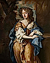 ca. 1670 Miss Vere Isham (1655–1674), daughter of 2nd Bt Isham by circle of Sir Peter Lely (Lamport Hall - Lamport, Northamptonshire UK)