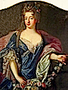 ca. 1700 Suzanne Henriette of Lorraine, Duchess of Mantua by Pierre Gobert (location unknown to gogm)