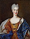 ca. 1700 Élisabeth Charlotte d'Orléans, Mademoiselle de Chartres, Duchess of Lorraine in by Pierre Gobert (location unknown to gogm)