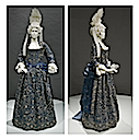 ca. 1700 Italian mantua front and side views (Los Angeles County Museum of Art - Los Angeles, California USA)