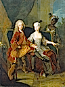 ca. 1716 Friedrich Ludwig of Württemberg and his wife Henriette Marie of Brandenburg-Schwedt by Antoine Pesne (Staatliches Museum Schwerin - Schwerin Germany)
