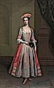 ca. 1720 Henrietta Hobart, The Hon. Mrs Howard, later Countess of Suffolk, in a masquerade dress attributed to Thomas Gibson (Blickling Hall - Blickling, North Norfolk UK)