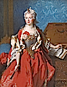 ca. 1727 Marguerite de Sève, Wife of Barthélemy-Jean-Claude Pupil by Nicolas de Largillière (Timken Museum of Art - San Diego, California USA)