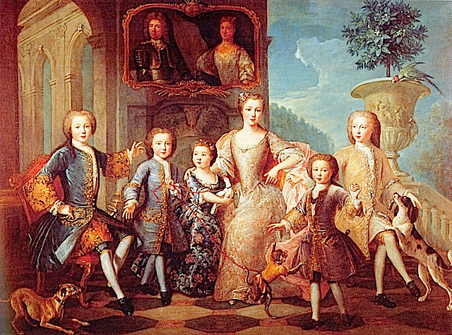 ca. 1730 Louise, Jacques, and children by Pierre Gobert (Grimaldi Collection - Monaco) From madmonaco.blogspot.com:2010:10:today-in-grimaldi-history