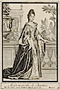 ca. 1732 Louise Diane d'Orléans, Mademoiselle de Chartres by Robert Bonnart (Bibliothèque nationale de France)