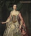 1740 Catherine Collingwood (d.1761), Lady (Robert) Throckmorton by George Knapton (Coughton Court - Alcester, Warwickshire UK)