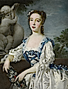 ca. 1740-45 Lady, thought to be the Hon. Anne, eldest daughter of Sir Jacob de Bouverie, 1st Viscount Folkestone by Bartholomew Dandridge (Lane Fine Art)