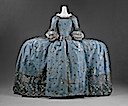 ca. 1750 British court dress (Metropolitan Museum) back view