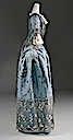 ca. 1750 British court dress (Metropolitan Museum) waffle view