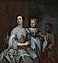 ca. 1753 Lady Grace Carteret, Countess of Dysart, with a child by ? (Ham House, Surrey UK)
