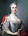 ca. 1753 Maria Luise Albertine of Leiningen, wife of George William of Hesse-Darmstadt by Johann Christian Fiedler (Schloßmuseum, Darmstadt Germany)