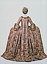 ca. 1775 Italian court dress and petticoat (robe à la Française) (Museum of Fine Arts - Boston, Massachusetts USA) back