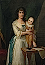 ca. 1776 Countess of Altamira and her son by Agustin Esteve (Metropolitan Museum of Art - New York City, New York USA)