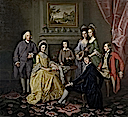 ca. 1776 Sir James & Lady Hodges and their family by Sir Nathaniel Dance-Holland (Richard Green Gallery)