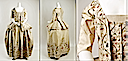 ca. 1780 French silk and metallic thread caraco (Metropolitan Museum of Art - New York City, New York USA) front, side, and detail