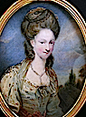 ca. 1795 Lady Hester Stanhope miniature by William Grimaldi after Sir Joshua Reynolds) (auctioned by Bohams)
