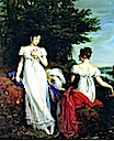 ca. 1810 Pauline Borghèse and the Baroness de Mathiesse by René-Théodore Berthon (Cummer Museum of Art, Jacksonville Florida)