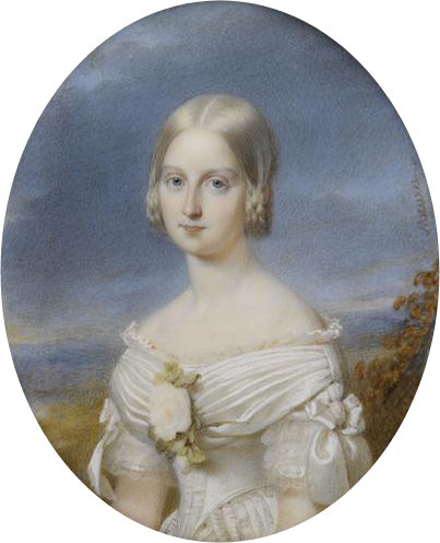 ca. 1842 Maria Carolina of Bourbon-Siciles by François Meuret (Musée Condé, Chantilly)