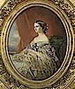 ca. 1854 Imperatrice Eugénie by Armand Constant Melicourt-Lefebvre after Winterhalter (Chateau de Compiegne)