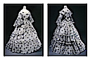 ca. 1864 Robe a été portée par la Duchesse de Cadore by ? (Galliera musée de la Mode de la Ville de Paris - Paris France) Photo - P. Ladet and C. Pignol front quarter and back quarter