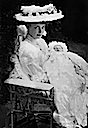 ca. 1906 (estimated from baby's age) Cecilie and firstborn