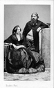 Carlo di Borbone and Penelope Smyth by Adolphe Eugène Disdéri detint enlarged one tenth