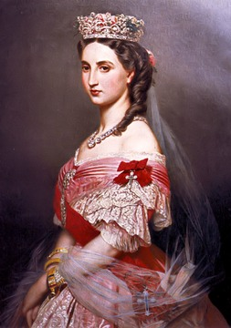 1864 Empress Carlota by Franz Xaver Winterhalter (Hearst Castle, San Simeon California)