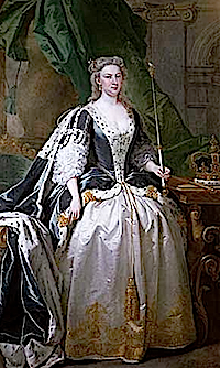 Caroline Wilhelmina of Brandenburg-Ansbach by John Vanderbank (location unknown to gogm)