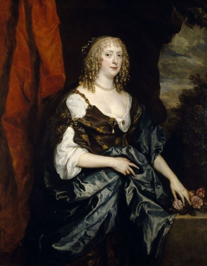 Catherine Bruce, Mrs Murray, later Countess of Dysart by Sir Anthonis van Dyck (Petworth House - Petworth, West Sussex, UK) From pinterest.com:hopeisaflame:art-anthony-van-dyck: X 1.25
