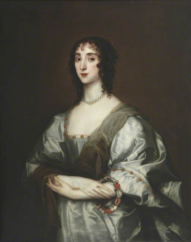 Cecilia Killigrew (d.1638) (formerly called 'Henrietta Maria') by Sir Anthonis van Dyck (The Queen's College, University of Oxford - Oxford, Oxfordshire, UK) From artuk.org