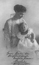 1915-1916 Cecilie and Alexandrine post card