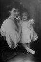 Cecilie Auguste Marie of Mecklenburg-Schwerin, probably with her son Prince Friedrich (b. 1911)
