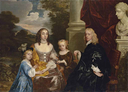 Charles Dormer, 2nd Earl of Carnarvon, his wife Elizabeth, née the Hon. Elizabeth Capel, and their children by Sir Peter Lely (auctioned by Christie's)