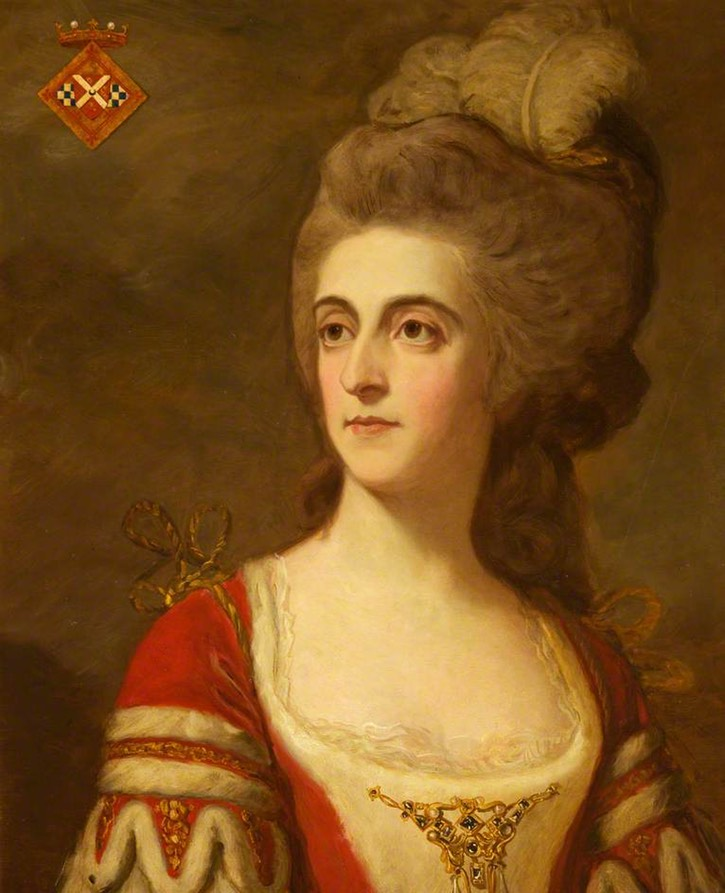 Charlotte Jane Windsor (1746–1800), First Wife of the 1st Marquess of Bute after Allan Ramsay (Castell Coch - Tongwynlais, Cardiff (Caerdydd), UK)