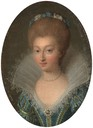Charlotte Marguerite de Montmorency wearing a blue dress by ? (location unknown to gogm)
