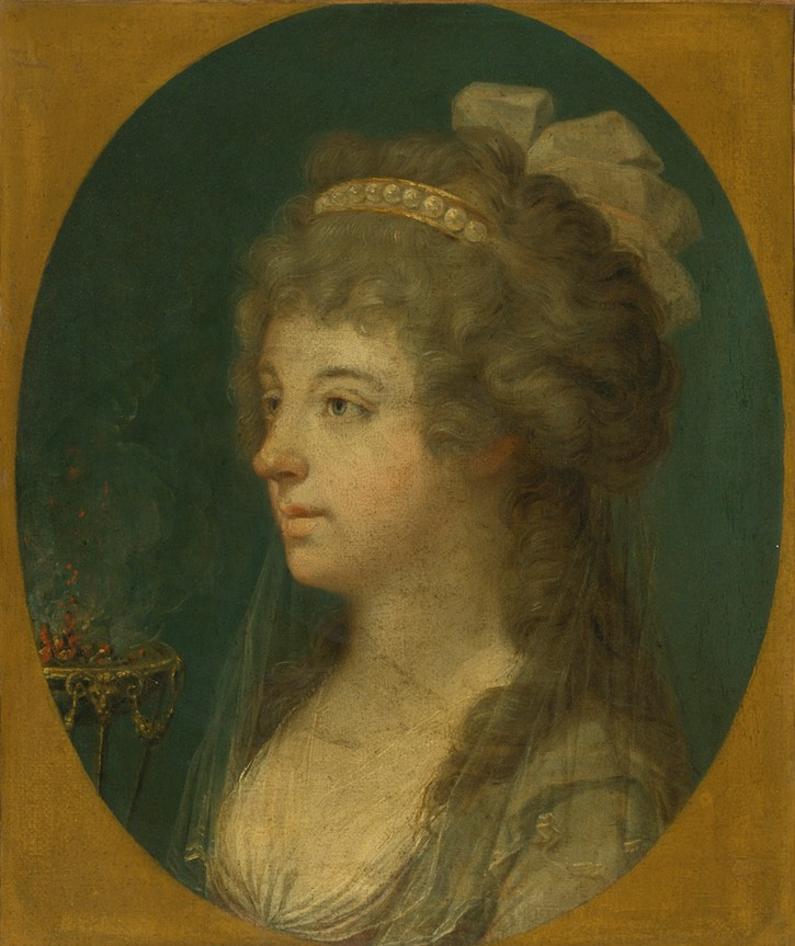 Charlotte Stuart attributed to François Dumont (auctioned by Sotheby's) Wm decrack