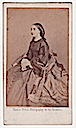 ca. 1860 (estimated) Charlotte of Belgium sitting while wearing a crinoline