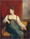 1817 Princess Charlotte of Wales seated and looking to one side by George Dawe (British Government Art Collection)